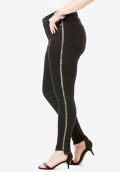 Side-Stripe Skinny Jean By Denim 24/7®, EMBELLISHED