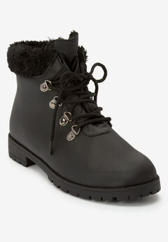 The Vylon Hiker Bootie by Comfortview®, BLACK