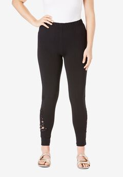 Lace-Inset Essential Stretch Legging,