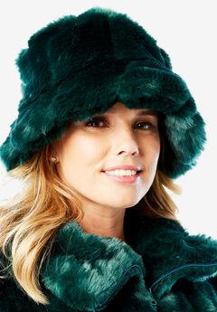 Faux-Fur Bucket Hat,