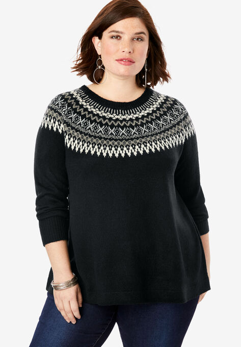 purchase genuine later dirt cheap Fair Isle Pullover Sweater