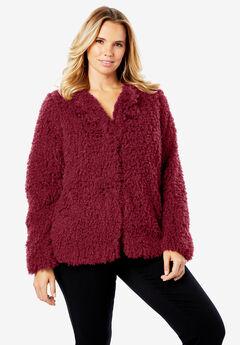 Plush Faux Fur Coat,