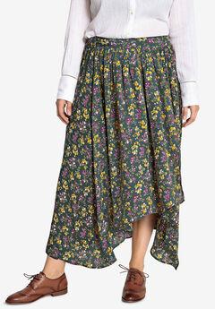 Wrap-Front High-Low Skirt Castaluna ,
