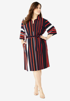 c11d1bf19d60 Belted Shirtdress with Pockets