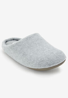 The Carita Clog Slipper by Comfortview®, HEATHER GREY