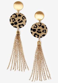 Chain Fringe Earrings,