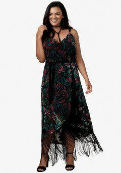 Velvet Fringe Dress,