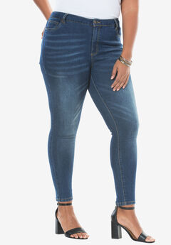 Skinny Jean with Invisible Stretch® by Denim 24/7®, STONEWASH SANDED