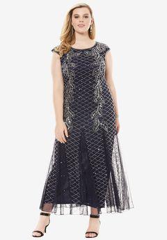 Long Beaded Dress by Pisarro Nights,