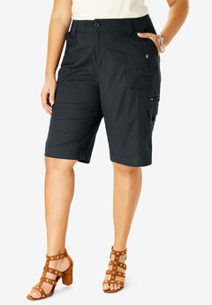 Cargo Shorts with Adjustable Bungee Hem,