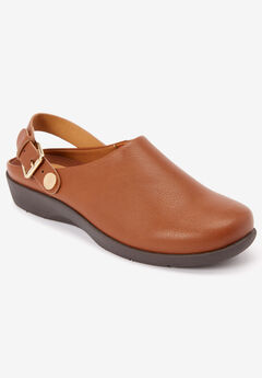 The Indigo Convertible Mule by Comfortview®, COGNAC