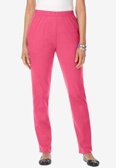 Straight-Leg Soft Knit Pant,