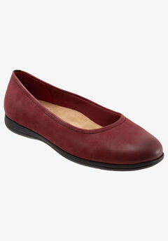 Darcey Flat by Trotters®, DARK RED