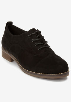The Timea Oxford Flat by Comfortview®, BLACK