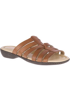 Dachshund Slides by Hush Puppies®, TAN LEATHER