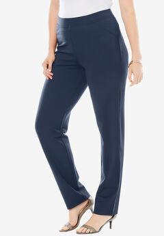 Straight-Leg Ultimate Ponte Pant, DARK NAVY