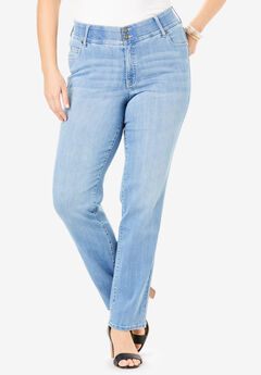 The Curvy Straight-Leg Jean by Denim 24/7®,