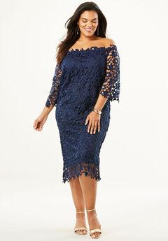Off -The-Shoulder Lace Dress,