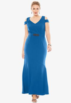 Cold Shoulder Dress by Alex Evenings,