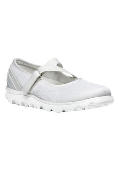 TravelLite Mary Jane Sneaker by Propet®, WHITE