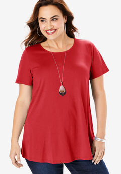 Swing Ultimate Tee with Keyhole Back, VIVID RED