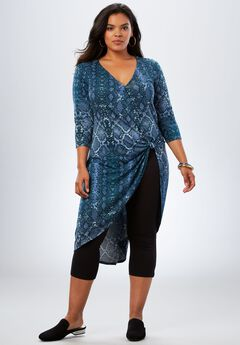 Side-Knot Drape Ultra Tunic,