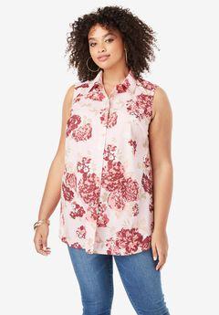 Kate Sleeveless Shirt,