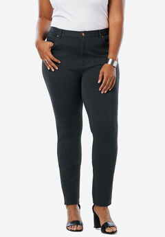 Skinny 5-Pocket Ultimate Ponte Pant, HEATHER CHARCOAL