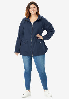 Hooded Anorak Jacket, NAVY
