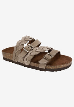 Holland Sandal by White Mountain, LT TAUPE SUEDE