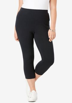 Capri Legging with Elastic Waist,