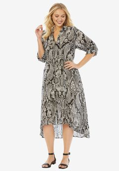 High-Low Crinkle Dress,