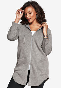 Lightweight Hooded Fleece Jacket,
