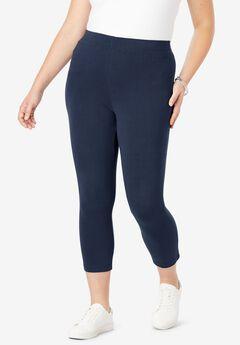 Capri Legging with Elastic Waist,