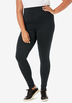 Performance Legging with Wide Waistband, BLACK