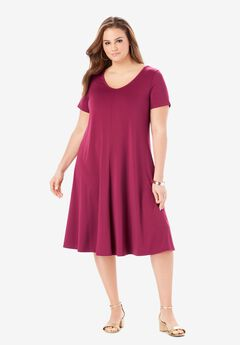 Ultra Smooth Swing Drape Dress,