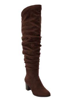 The Carmine Wide Calf Boot by Comfortview®, BROWN
