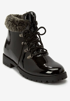 The Vylon Hiker Bootie by Comfortview®, BLACK PATENT