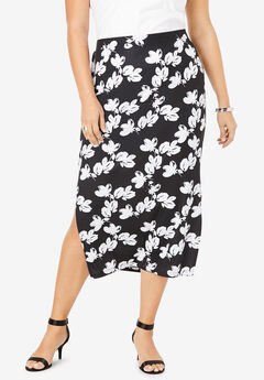 Ultra Smooth Pencil Skirt, SIMPLE ABSTRACT FLORAL