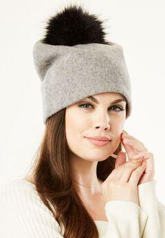 Slouchy Pom-Pom Hat,