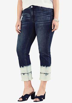 Tie-Dye Crop Jean by Denim 24/7®,
