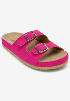 Maxi Footbed Sandal by Comfortview®, VIVID PINK