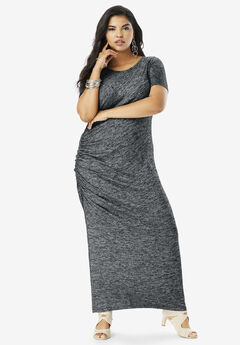 2422444272 Supersoft Ruched Maxi Dress