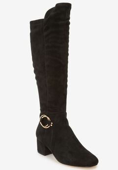 The Ruthie Wide Calf Boot by Comfortview®, BLACK