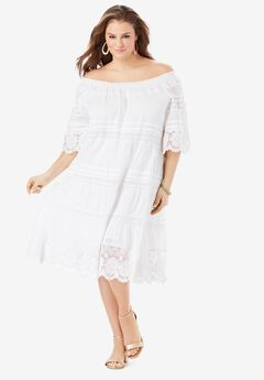Crochet Off-the-Shoulder Dress,