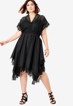 Lovely Lace Dress, BLACK