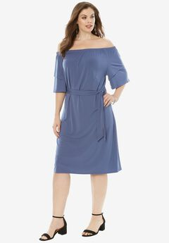 Off-The-Shoulder Ruffle Dress,