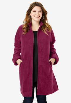Plush Fleece Driving Coat,