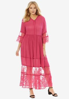 Rayon Crinkle Dress,