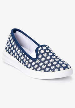 The Dottie Sneaker by Comfortview®, DENIM EYELET